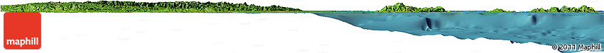 Satellite Horizon Map of Belize