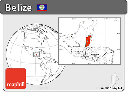Free Blank Location Map of Belize