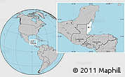 Blank Location Map of Belize, gray outside