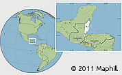 Blank Location Map of Belize, savanna style outside