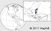 Flag Location Map of Belize, blank outside