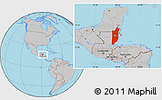 Gray Location Map of Belize