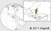 Satellite Location Map of Belize, blank outside