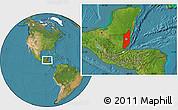 Satellite Location Map of Belize