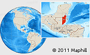 Shaded Relief Location Map of Belize