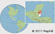 Savanna Style Location Map of Orange Walk, highlighted country