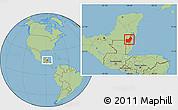 Savanna Style Location Map of Orange Walk