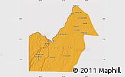 Political Map of Orange Walk, cropped outside