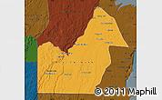 Political Map of Orange Walk, darken