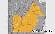 Political Map of Orange Walk, desaturated