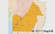 Political Map of Orange Walk, lighten