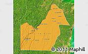Political Map of Orange Walk, satellite outside