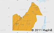 Political Map of Orange Walk, single color outside