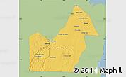 Savanna Style Map of Orange Walk, single color outside