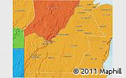 Political 3D Map of Orange Walk