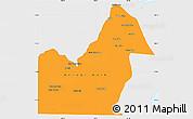 Political Simple Map of Orange Walk, single color outside
