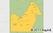 Savanna Style Simple Map of Orange Walk, cropped outside
