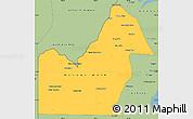 Savanna Style Simple Map of Orange Walk