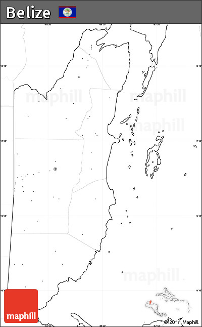 Free Blank Simple Map of Belize, no labels