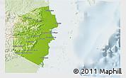 Physical 3D Map of Stann Creek, lighten