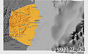 Political 3D Map of Stann Creek, darken, desaturated
