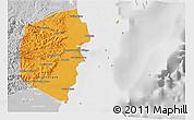 Political 3D Map of Stann Creek, lighten, desaturated