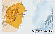 Political 3D Map of Stann Creek, lighten