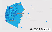 Political Shades 3D Map of Stann Creek, cropped outside