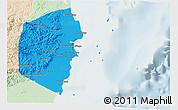 Political Shades 3D Map of Stann Creek, lighten