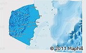Political Shades 3D Map of Stann Creek, single color outside