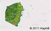Satellite 3D Map of Stann Creek, cropped outside