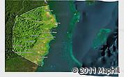 Satellite 3D Map of Stann Creek, darken