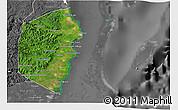 Satellite 3D Map of Stann Creek, desaturated