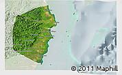 Satellite 3D Map of Stann Creek, lighten