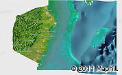 Satellite 3D Map of Stann Creek, single color outside