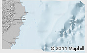 Gray 3D Map of Isla