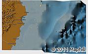 Political 3D Map of Isla, darken