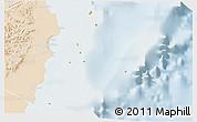 Political 3D Map of Isla, lighten