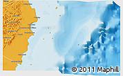 Political 3D Map of Isla