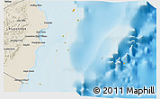 Political 3D Map of Isla, shaded relief outside