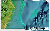 Satellite 3D Map of Isla