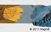 Political Panoramic Map of Stann Creek, darken