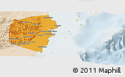 Political Panoramic Map of Stann Creek, lighten