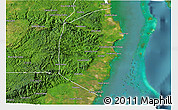 Satellite 3D Map of Stann Creek