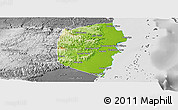 Physical Panoramic Map of Stann Creek, desaturated