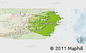 Physical Panoramic Map of Stann Creek, lighten