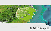 Physical Panoramic Map of Stann Creek, satellite outside