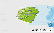 Physical Panoramic Map of Stann Creek, single color outside