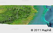 Satellite Panoramic Map of Stann Creek