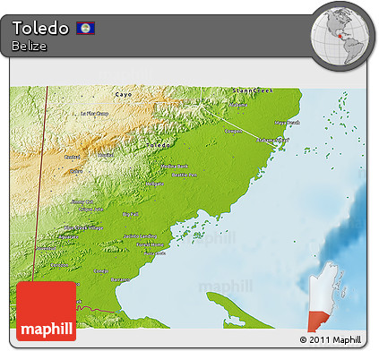 Physical 3D Map of Toledo